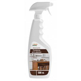 Полироль для дерева с эффектами: очистка антистатик защита от пальцев дезинфекция блеск Wood polish 500 мл