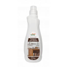 Поліроль для дерева з ефектами: очищення антистатик захист від пальців дезінфекція блиск Wood polish 1 л