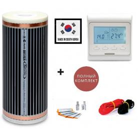 Электро подогрев пола Hot Film 5 м2(ширина 100 см) 1100 Вт 220 Вт/м2 с программируемым терморегулятором E51
