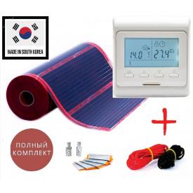 Инфракрасная нагревательная пленка RexVa PTC 2,5м²(0.5мх5м)550Вт/220Ват/м² с терморегулятором E51