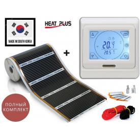 Электрический теплый пол под ламинат HEAT PLUS 4,5 м²/0,5х 9 м/990 Вт/220 Вт/м² с сенсорным терморегулятором Е91