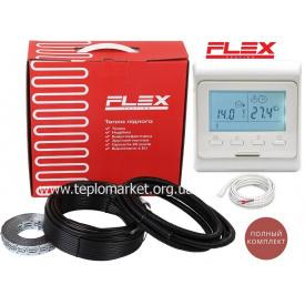 Теплый пол Flex 8м²-9,6м²/1400Вт (80м) электрический нагревательный кабель под плитку EHC-17,5Вт/м с программируемым терморегулятором E 51