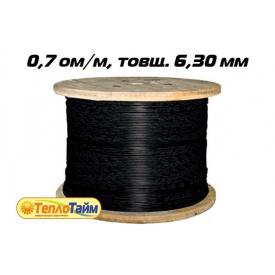 Одножильный нагревательный кабель TXLP BLACK DRUM 0,7 OM/M