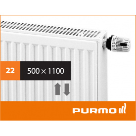 Сталевий панельний радіатор PURMO Ventil Compact 22 500x 1100