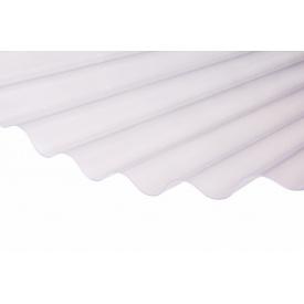 Прозрачный шифер ПВХ Salux WHR 76/18 1,8х0,9 м (прозрачный волна)
