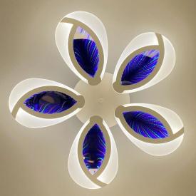 Люстра на пульте д/у 3D Klever-5 140W RGB 3000-6000К 600*80мм 20-25кв/м