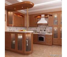 Кухня из дерева угловая Код: КГ-8 Под заказ