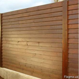 Сплошной забор из массива сосны. Под заказ. Код: ДО-9