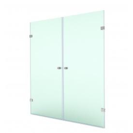 Распашная душевая дверь в нишу 200х60х60 СтеклоДизайн