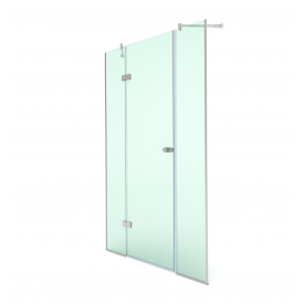 Распашная душевая дверь в нишу 200х110 СтеклоДизайн
