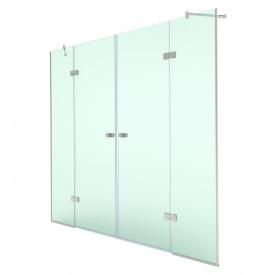 Распашная душевая дверь в нишу 200х180 СтеклоДизайн
