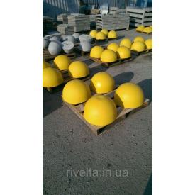 Півсфера бетонна 500х250 мм червоний