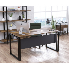 Письменный стол офисный Loft-design G-160 Орех-модена 16 мм