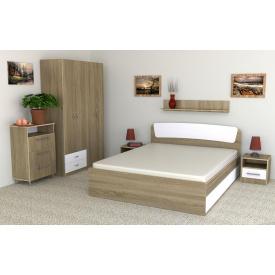 Комплект меблів в спальню Компанит Класика №6 двоспальне лдсп дуб-сонома-комбі