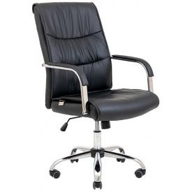 Комп'ютерне м'яке крісло Richman Торонто хром кожзам чорний