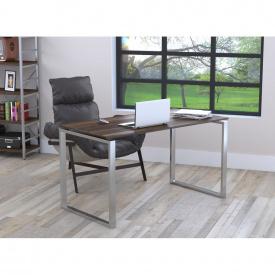 Письменный стол Loft-design Q-135х70х76 см ножки металл-Хром столешница лдсп Орех-модена