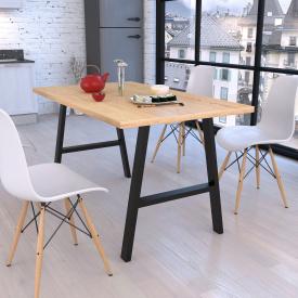 Стол обеденный Loft-Design Атлант 138х70 см металлические ножки