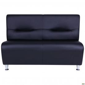 Офисный диван AMF Комби 120х66х80 см двухместный черный