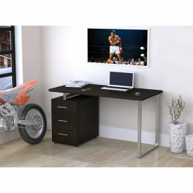 Компьютерно-письменный стол Loft-design L-27-MAX 135х65х75 см ножки-металлические хром c тумбой лдсп