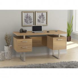 Письменный стол Loft-design L-81 двухтумбовый для офиса Светлый дуб-борас