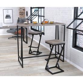 Барный стол BS-125 Loft-Design дуб-палена темный