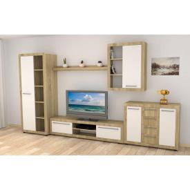 Комплект мебели в гостиную Компанит МГ-1-B дсп дуб-сонома-комби модульная