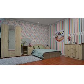 Спальня меблі Компанит двоспальний комплект №1 дсп дуб-сонома
