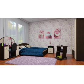 Меблі для спальні Компанит №5 двомісний гарнітур дсп венге