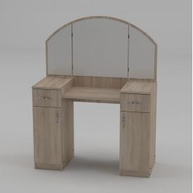 Туалетный столик Компанит Трюмо-4 дсп с зеркалом и ящиками для спальни для макияжа