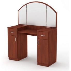 Туалетный столик Компанит Трюмо-4 дсп цвета яблоня с зеркалом и ящиками