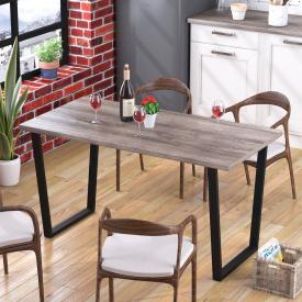 Обідній стіл Трапеція Loft-Design лдсп Темний дуб-палена