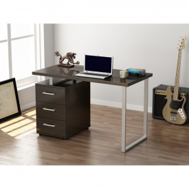 Письменный стол Loft-design L-27 с тумбочкой лдсп темный венге
