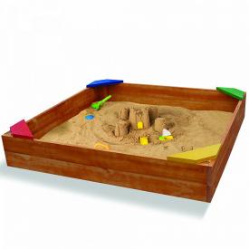 Дерев'яна пісочниця SportBaby №9 145х145 см для вулиці