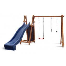 Деревнный детский комплекс Sportbaby Babyland-8 для уличной площадки горка с качелей кольцами скалолазка