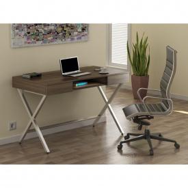 Стол письменный Loft-design L-15 ножки X металличекие Орех-темный