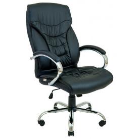 Кресло офисное Richman Кальяри-Ю крестовина-хром на колесиках кожзам черный