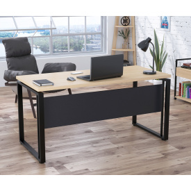 Письменный стол Loft-design G-160-32 с царгой для офиса прямоугольная столешница лдсп 32 мм