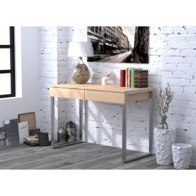 Письменный-компьютернй стол Loft-Design L-11 металлически ножки столешница лдсп светлый дуб-борас