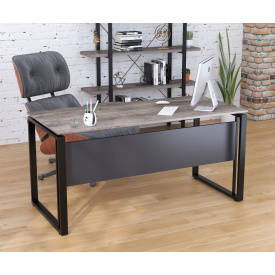 Письменный стол Loft-design G-160 16 мм офисный Дуб-палена