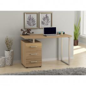 Письменный стол Loft-design L-27 с тумбочкой лдсп светлый дуб-борас
