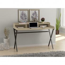 Письменный стол Loft-design L-10 металлический столешница лдсп светлый дуб-борас