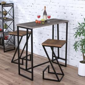 Барний столик BS-110 Loft-design Темний дуб-палена