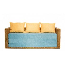 Плетенный диван Уго CRUZO раскладной натуральный ротанг светло-коричневый go0001