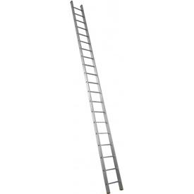Алюминиевая лестница приставная Техпром P1 9118 1х18 профессиональная