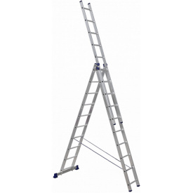 Алюминиевая трехсекционная лестница Техпром H3 5310 3х10