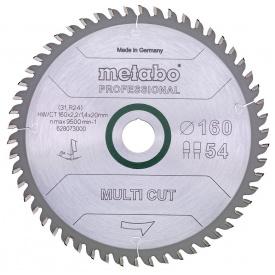 Пильный диск Metabo MultiCutProf 165x20 54FZ/TZ 5 град (628293000)