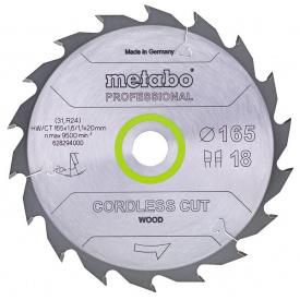 Пильный диск Metabo CordlessCutProf 165x20 18WZ 20 град (628294000)
