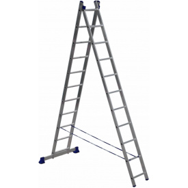 Алюминиевая двухсекционная лестница Техпром 5211 2х11