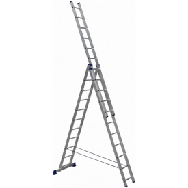 Алюминиевая трехсекционная лестница Техпром H3 5311 3х11