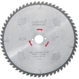 Пильный диск Metabo 254x30 HW/CT 60 WZ5 градус (628222000)